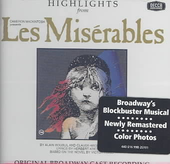 LES MISERABLES-HIGHLIGHTS BY ORIGINAL BROADWAY CA (CD)